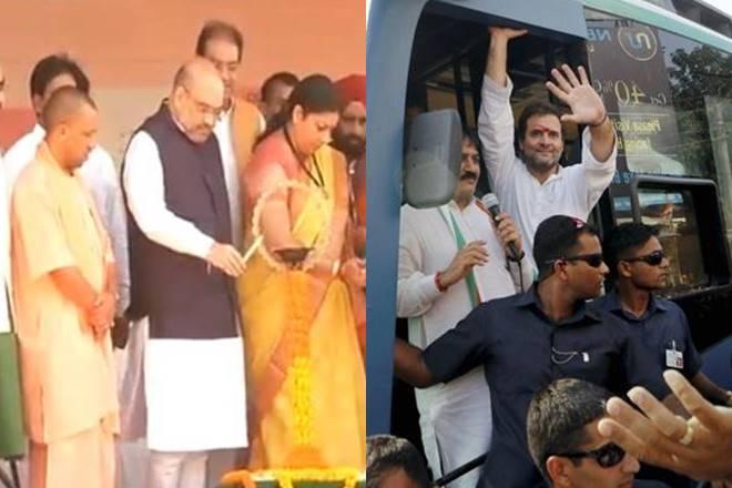 Rahul Gandhi, Amit Shah, Bharatiya Janata Party, Amethi, Yogi Adityanath, Smriti Irani, Gujarat, Gujarat Elections, Narendra Modi, Amit Shah in Amethi, Rahul Gandhi in Gujarat