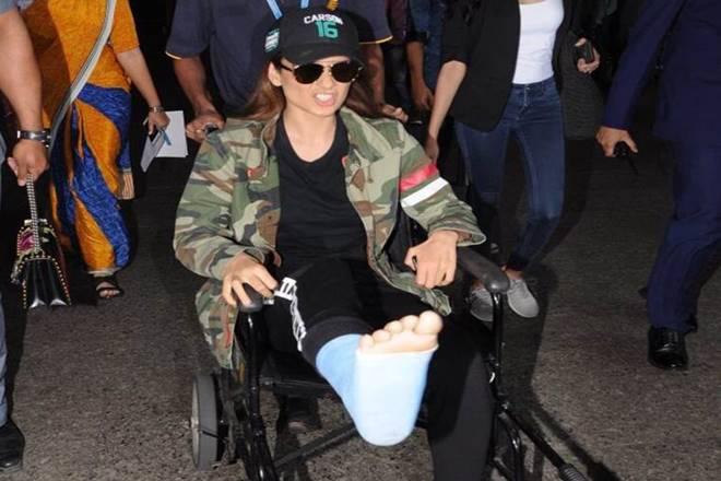 Latest image of Kangana Ranaut after getting injured