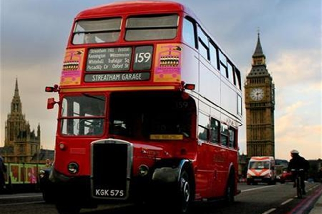 London, London iconic red bus, double decker bus,double-decker buses, London buses, coffee grounds, old coffee grounds, coffee ground biofuel, London red buses, Londom double-decker buses