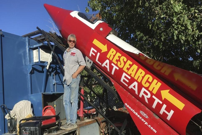 Mike Hughes, Mad Mike Hughes, man builds rocket from scrap, rocket built from garage scraps, rocket made from scraps