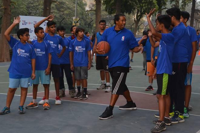 Andre Miller, NBA, NBA star, NBA school, NBA basketballs school, Andre Miller india visit, Andre Miller in india, Andre Miller basketball, Andre Miller nba, sports news