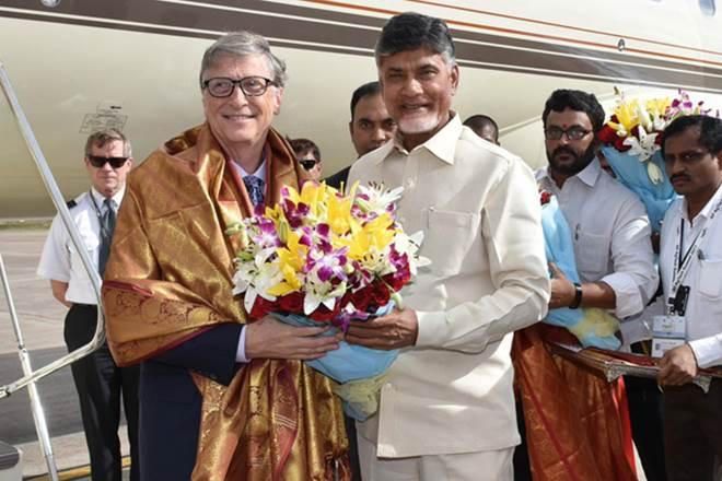 Bill Gates,Andhra Pradesh,farmers,N Chandrababu Naidu