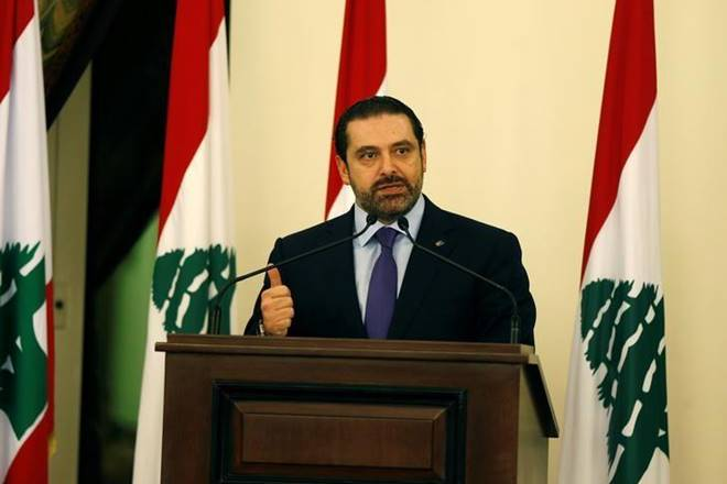 Saad al-Hariri,Saad al-Hariri, Hariri back in Beirut, national day parade,Lebanon into crisis,Michel Aoun, Hariri withMichel Aoun,Saad Hariri appears after resignation