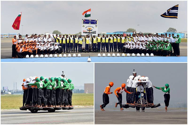 indian army, indian army breaks record, indian army creates guinness world record, indian army creates world record, Army Service Corps, Tornadoes, 58 army men riding single bike, india news, latest videos, latest news