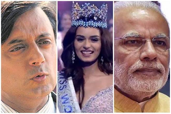 Shashi Tharoor, Manushi Chhillar, haryana, narendra modi, demonetisation, BJP, chhillar surname, chillar, congress