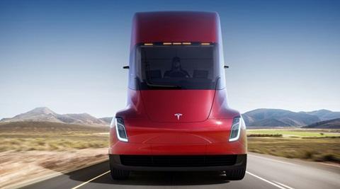 tesla semi truck electric revealed