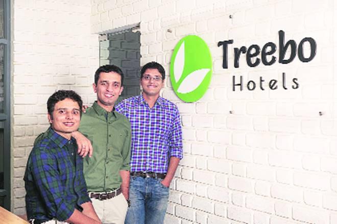 Treebo founders Sidharth Gupta, Kadam Jeet Jain and Rahul Chaudhary