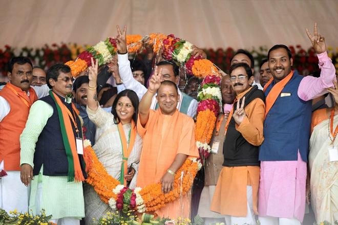up civic polls, up exit poll, up civic election exit poll, up municipal election exit poll, yogi adityanath, bjp, sp, akhilesh yadav, mayawati