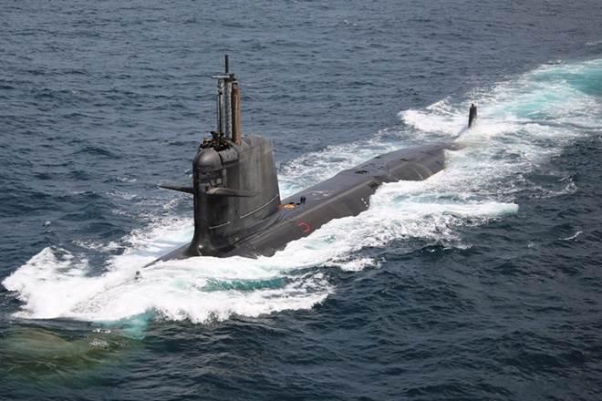 INS Kalvari, MoS Defence, Subhash Bhamre, Scorpene-class submarine,Indian Navy,Kalvari Class submarine, Minister of State for Defence