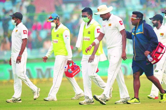 pollution in delhi, air pollution in delhi, cricket match in delhi pollution, delhi pollution