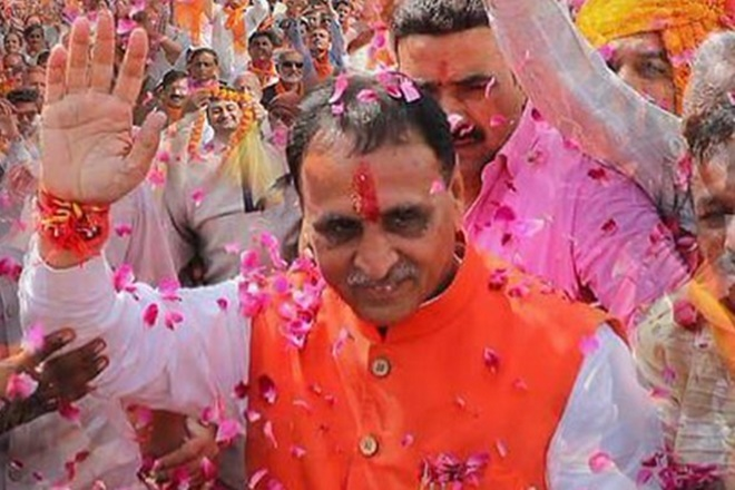 gujarat chief minister, vijay rupani, nitin patel, amit shah, narendra modi, smriti irani, gujara election result, bjp, gujarat election 2017