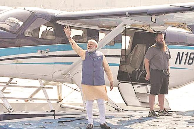 narendra modi, spicejet, zoom, sea plane, sabarmati sea plane, west bengal, boost to sea plane