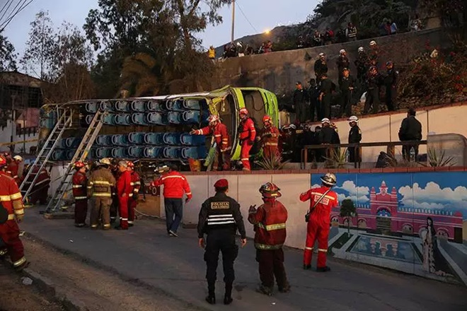 bus accident, peru, accident , casualities, injuries
