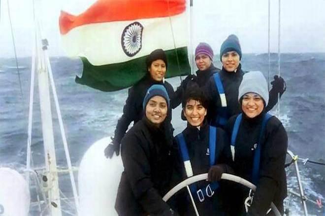 all women sailing team, Indian Navy,Indian Navy docks,UK island,INSV,INSVTarini, goa,Nirmala Sitharaman,NavikaSagarParikrama,Cape Town,South Africa