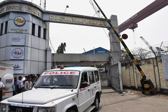 Cochin Shipyard, kochi, ongc, ingc tanker, fire accident