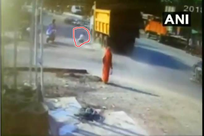 Gujarat: Man walks awayt unhurt after being hit by a truck