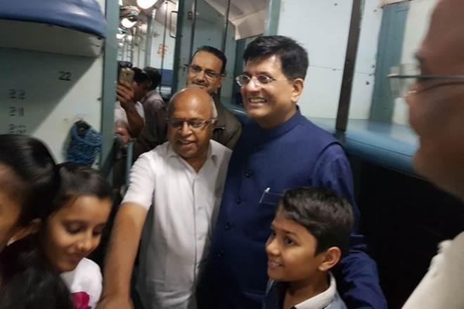 Piyush Goyal, Kaveri Express, railway inspection,Union Railways Minister Piyush Goyal,passenger amenities, train, indian railways