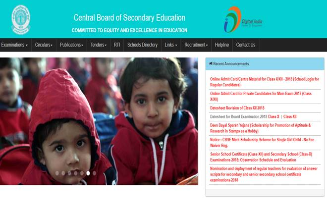CBSE Class 10, Class 12 admit card 2018 released: Here is how to download at cbse.nic.in/newsite/index.html