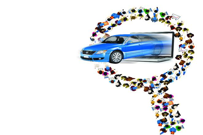 digital lane. digital world, automobile industry, automobile sector