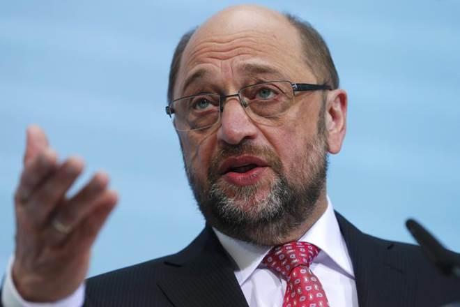 Martin Schulz,German SPD chief,SPD parliamentary group,Andrea Nahles,SPD headquarters,Angela Merkel