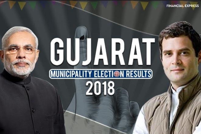 gujarat municipal gram panchayat election result 2018