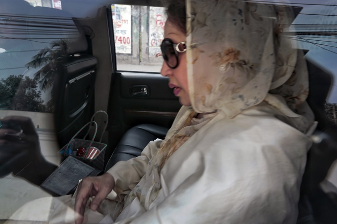 khaleda zia corruption case jail