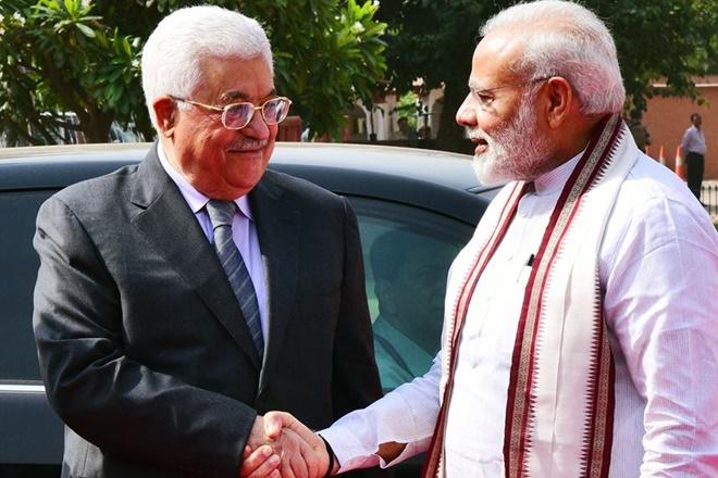 narendra modi Mahmoud Abbas