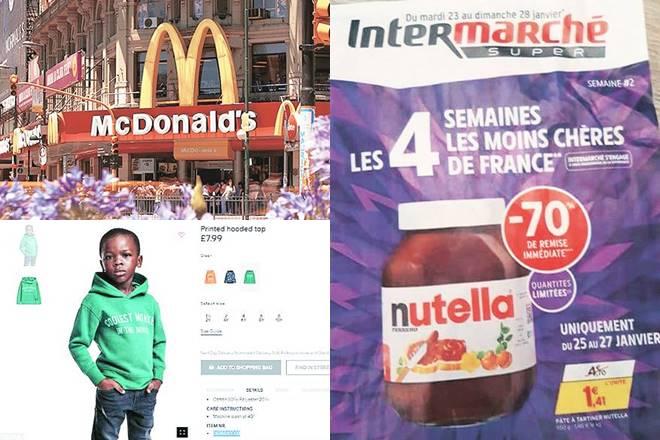 Amazon, Nutella,McDonald's,IKEA,Chinese fancy dress