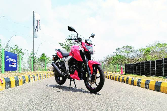 TVS Apache RTR 160 4V , tvs bike, automobile industry