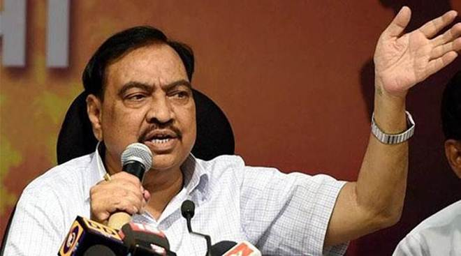 A former minister and BJP leader Eknath Khadse in the Vidhan Sabha on Thursday questioned the private player. (IE File Photo)