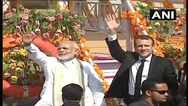 Solar Power Plant,Solar Park scheme,Biggest Solar Power Plant, narendra modi,Emmanuel Macron, PM Modi