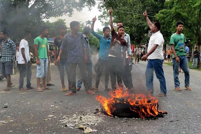 Assam, assam protest, protest atBodoland,BTC,Kokrajhar,Chirang district,BTAD,BPF
