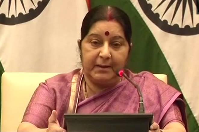 sushma swaraj, swaraj press conference, mosul death, swaraj slams congress, sushma swaraj slams congress,