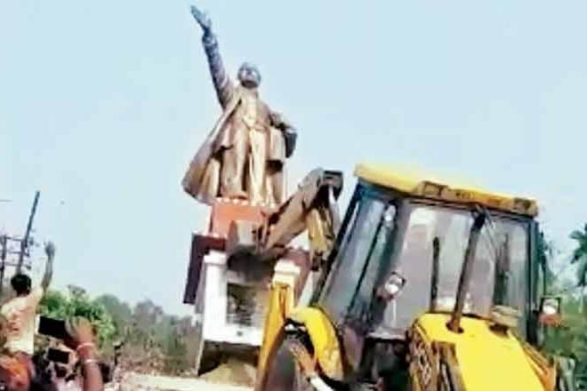 tripura violence, lenin statue, lenin statue demolition, political monuments