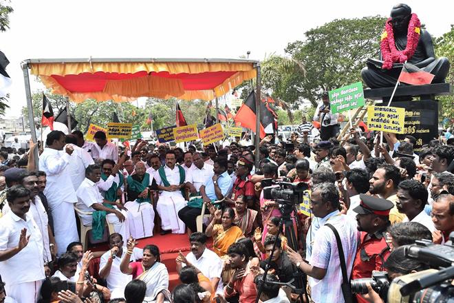 cauvery issue mk stalin