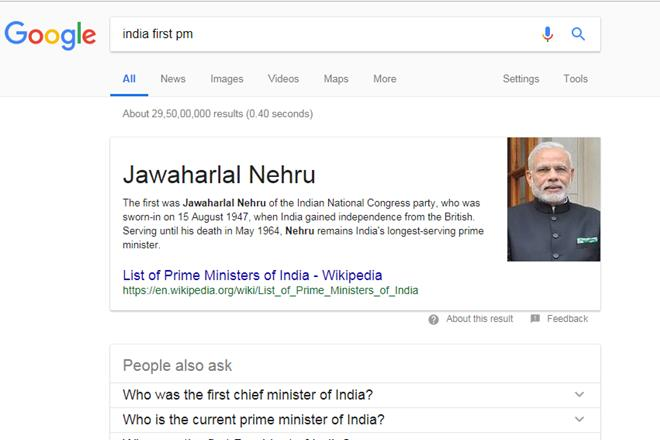 India first PM, Narendra Modi, india first pm, india's first pm, indias first pm, jawaharlal nehru, Google india first pm news, congress first president,