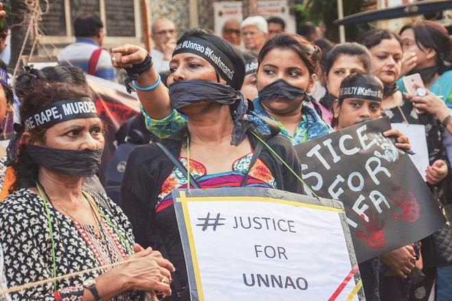 Nirbhaya case,Unnao rape case,Kathua rape case, uttar pradesh,Jammu & Kashmir,Bakerwal tribal community