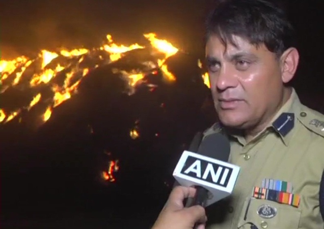 40 houses have gutted in a fire in Jammu and Kashmir's RS Pora region on Sunday.