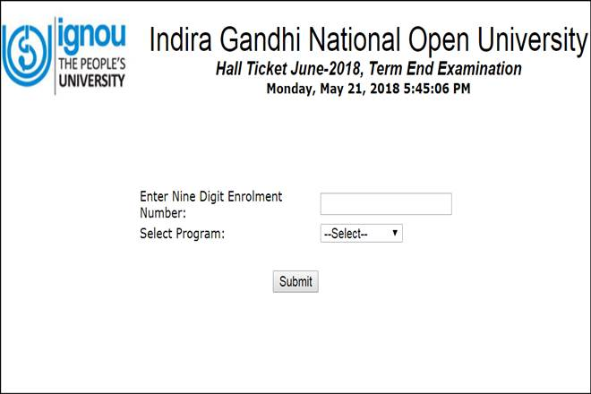 ignou, ignou hall ticket, ignou.ac.in, IGNOU TEE hall ticket 2018, Indira Gandhi National Open University, Term End Examination, TEE hall ticket, education news