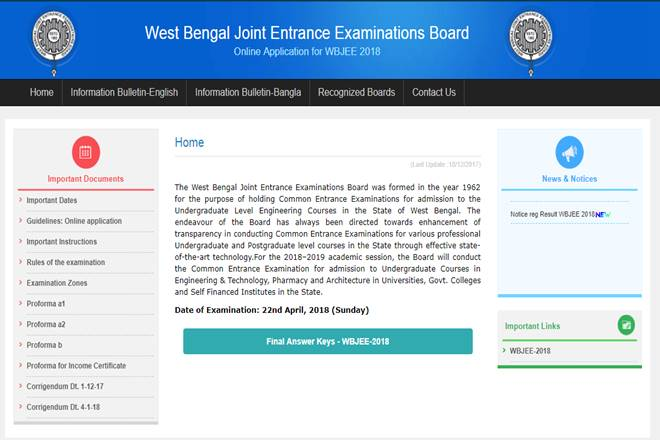 WBJEE result 2018, WBJEE result 2018 date, WBJEE result 2018 time, WBJEE result, wbjeeb.nic.in, West Bengal Joint Entrance Examination, West Bengal Joint Entrance Examination result, West Bengal Joint Entrance Examination result date, West Bengal Joint Entrance Examination result time, education news