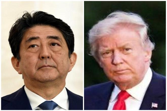 Donald Trump, Shinzo Abe, north korea, kim jong un,denuclearisation, united states, japan, south korea, military drills