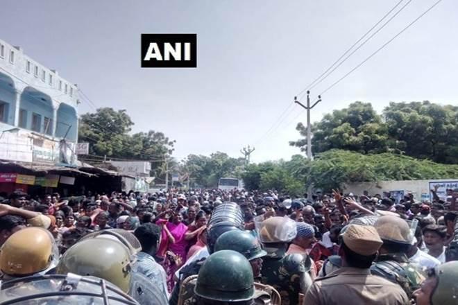 anti sterile protest, anti sterile protest in tuticorin, tamil nadu,Sterlite Industries, ban onSterlite Industries,Tuticorin Sterlite