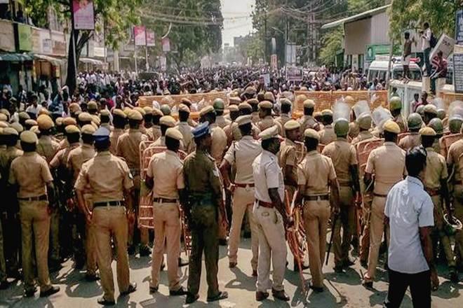 Anti-Sterlite protests, Tamil Nadu, Tuticorin district collector, police chief