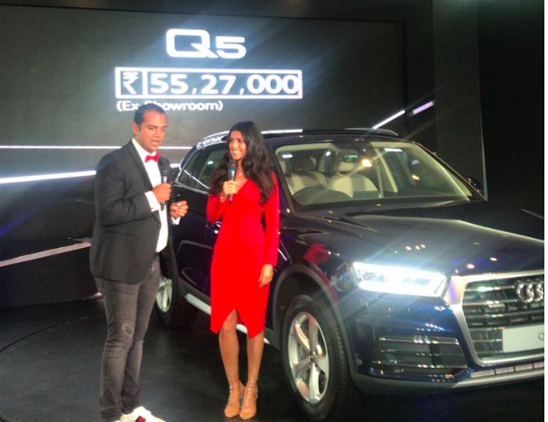 Actress Nimrat Kaur with Rahil Ansari, Head, Audi India
