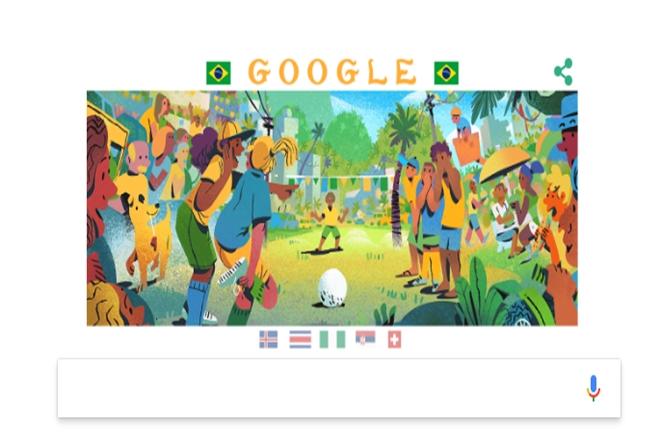 FIFA World Cup 2018,FIFA World Cup, googledoodle, brazilCosta Rica match,Nigeria, Iceland, Serbia, Switzerland