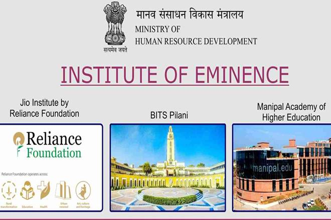 Institutes of Eminence, what are Institutes of Eminence, what is Institute of Eminence, jio Institutes of Eminence, jio institute, hrd ministry, prakash javadekar, about Institutes of Eminence, education news