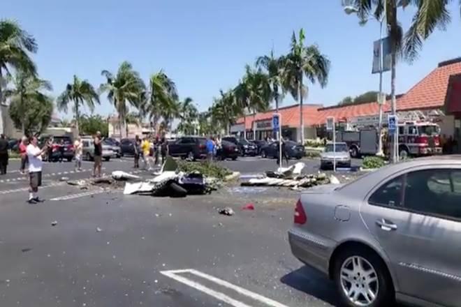 california plane crash, california, plane crash, santa ana, california parking lot plane crash, Cessna crash, california crash