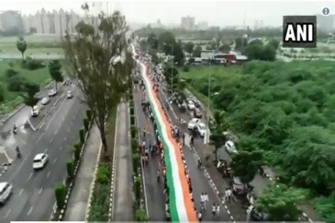 Independence Day, Independence Day procession, national flag 1 kmg ,72nd Independence Day