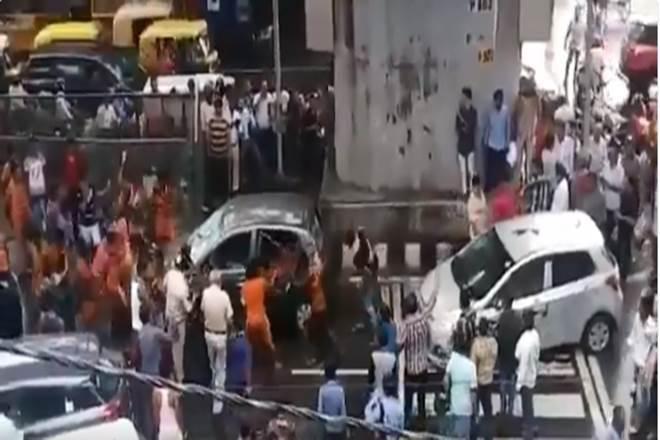 kanwariya procession,kanwariyavandalism,kanwariyamoti nagar car incident,kanwariyamoti nagar new delhi