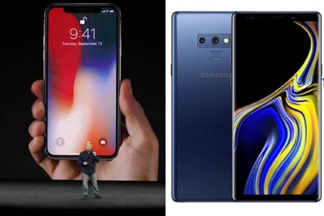 iPhone X versus Samsung note 9, iphonex, apple inc, ihonex feature, samsung note 9 feature